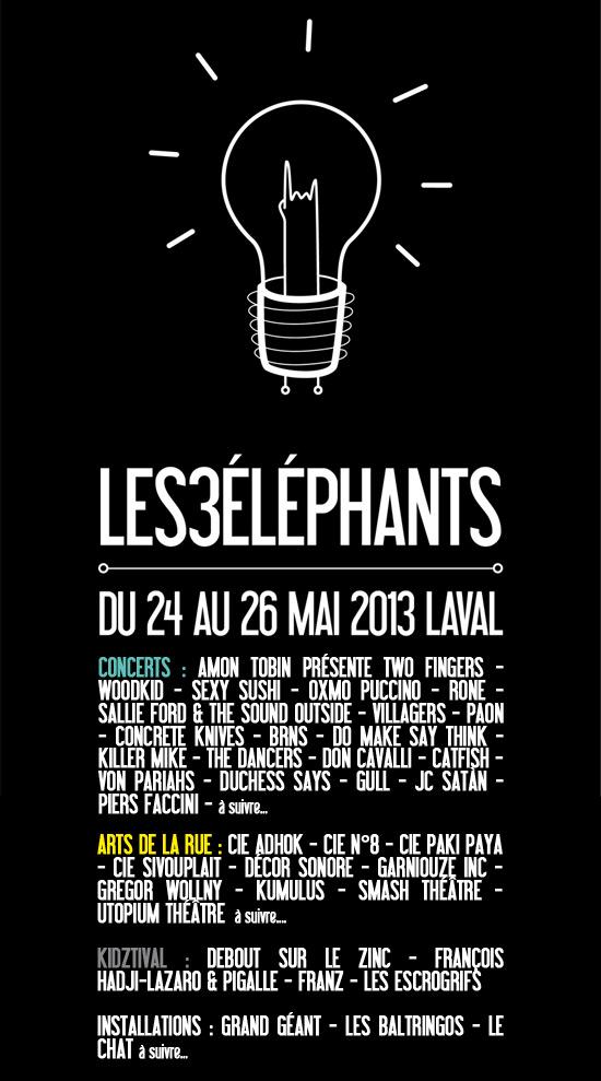 Festival les 3 éléphants 2013