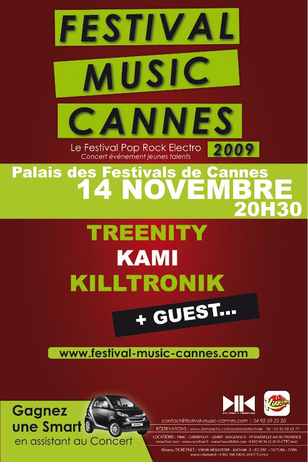 Festival music cannes le 14 novembre