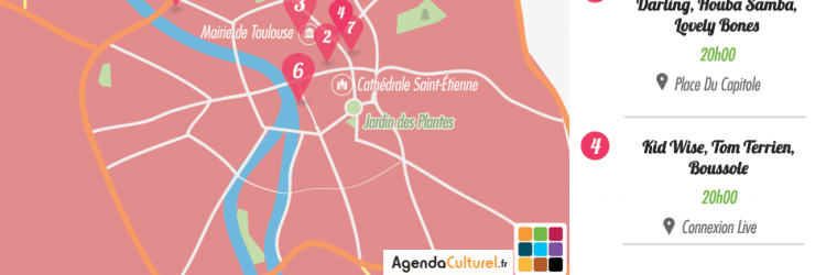 Carte toulouse