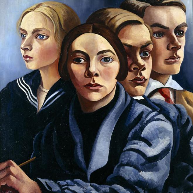 Charley Toorop- Autoportrait avec trois enfants