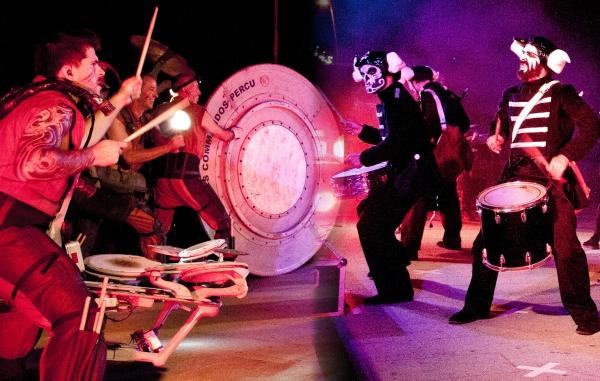 Deabru beltazk et les commandos percus le choc des tambours