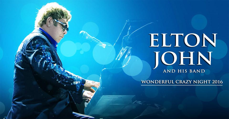 Elton john wonderful crazy night 2016 poster