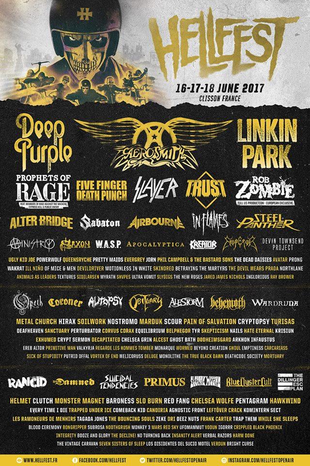 Hellfest line up2017 1