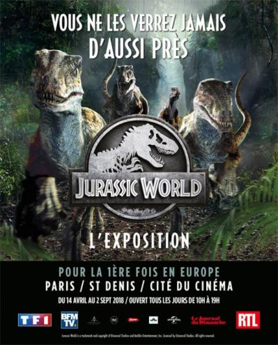 Jurassic world l exposition cite du cinema st denis