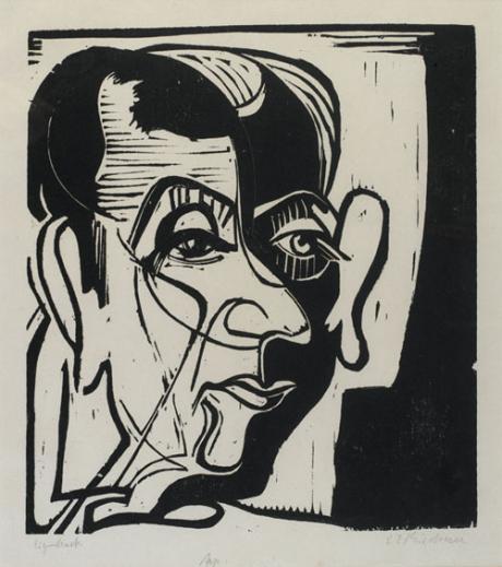 Kirchner- Portrait de Jean Arp