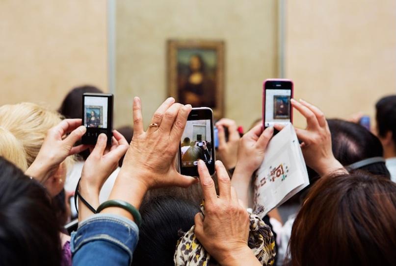 Martin parr- Visiteurs du Louvre