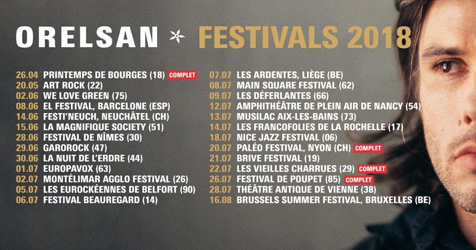 Orelsan tournee des festivals