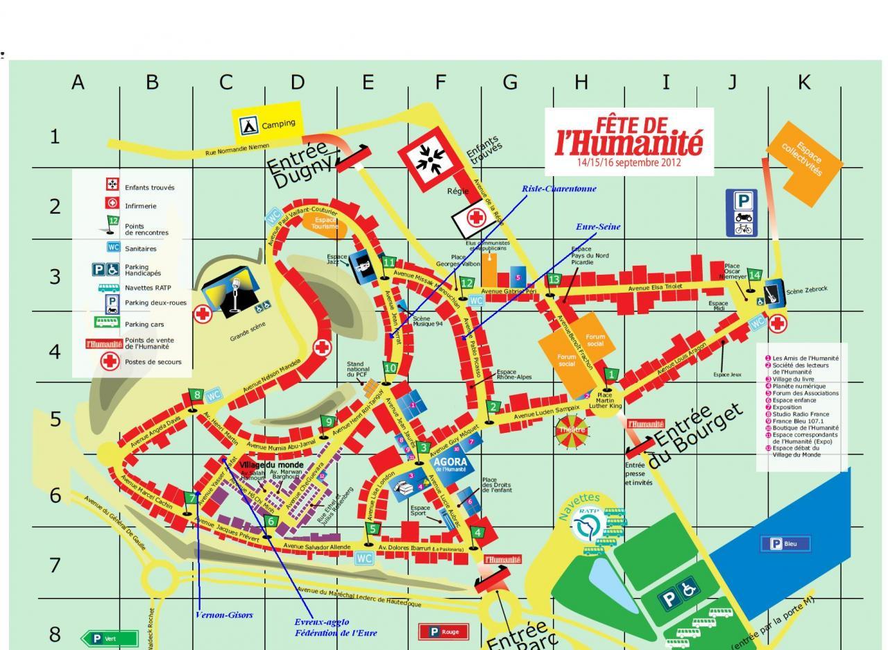 Plan Fête de l'Huma 2012