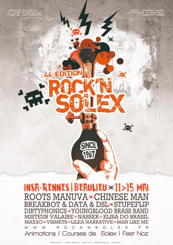 Affiche rock and solex 2012