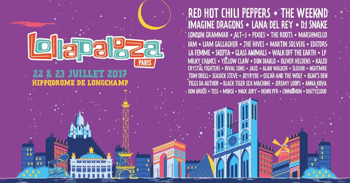 Lollapalooza paris 2017 line up