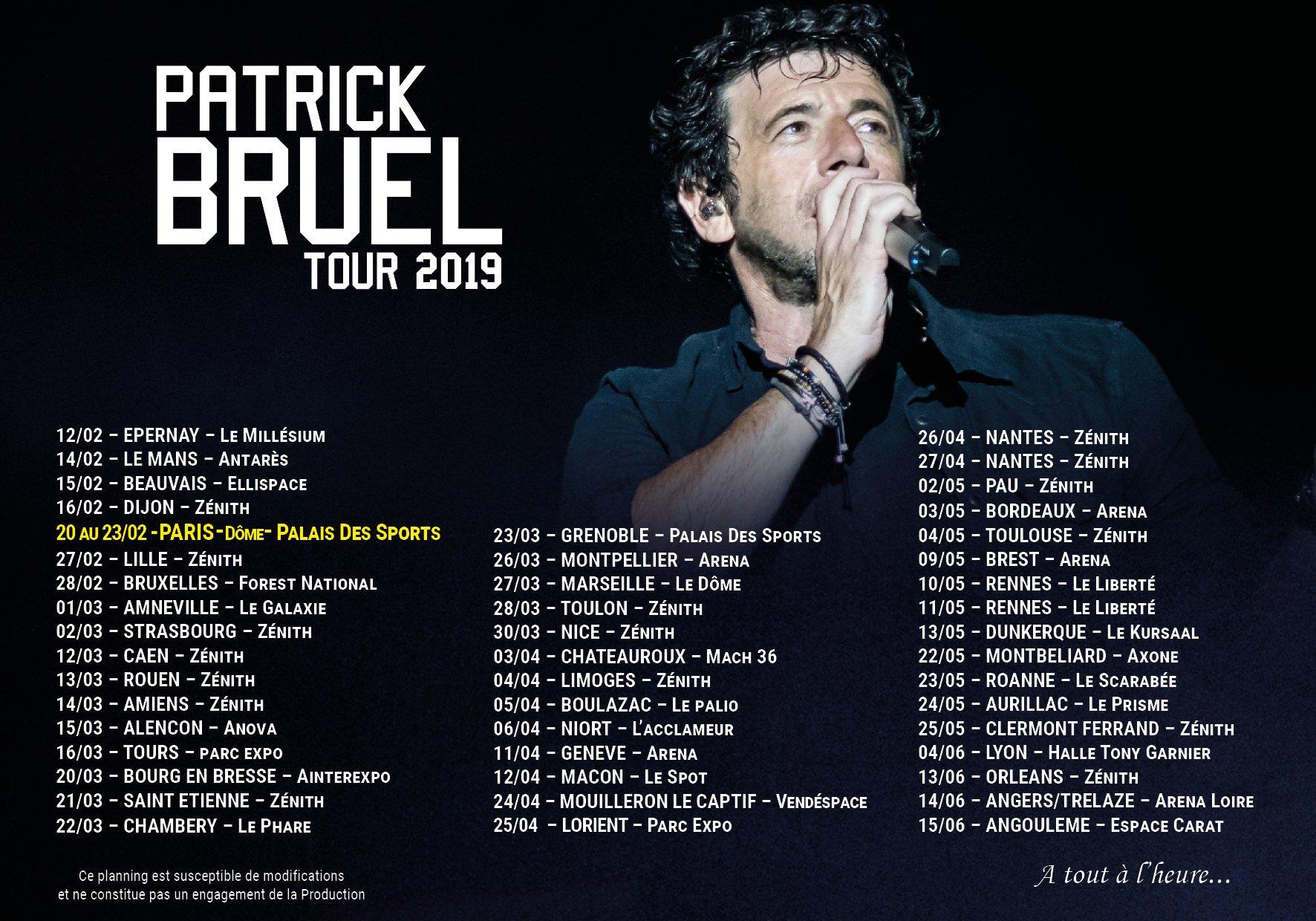 Patrick bruel tour 2020