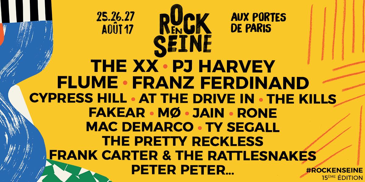 Rock en seine 2017 1er noms